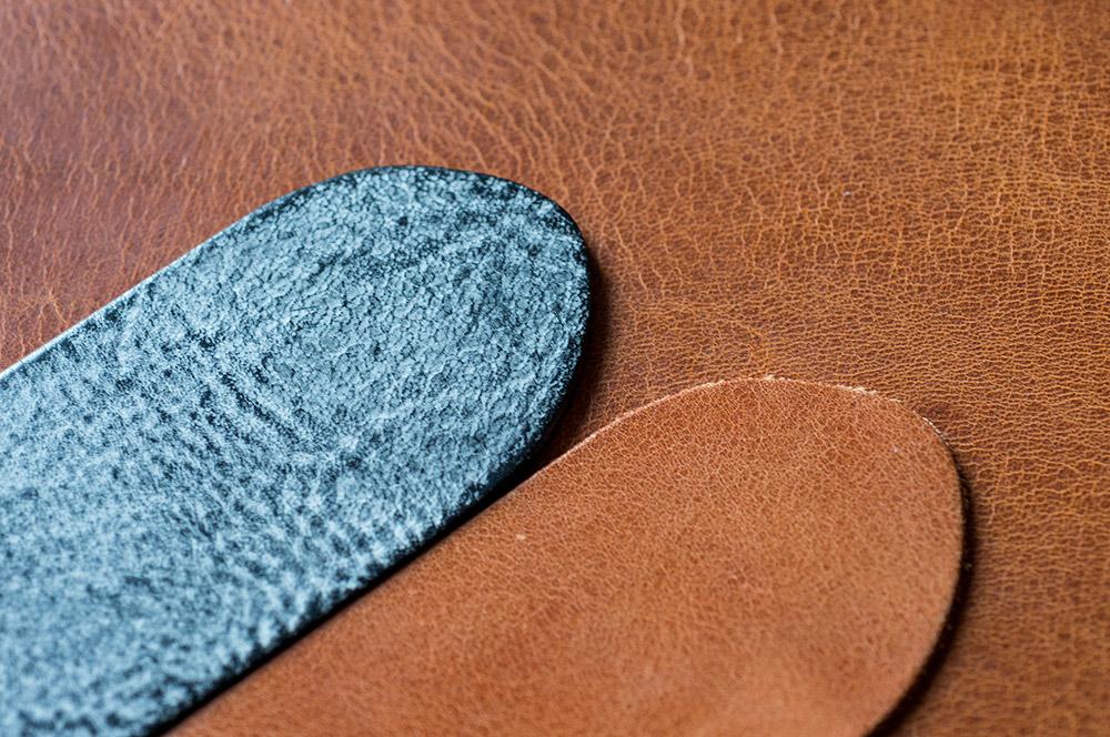 Blankleder vegetabil gefärbt, soft touch und vintage effekt